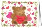 Happy Birthday Valentine Bear card