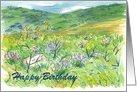 Desert Lupine Landscape Birthday Card