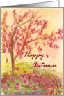 Happy Autumn Tree and Garden card