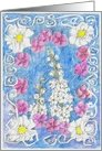 White Flowers Birthday Card