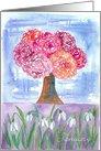 January Flower Birthday Card