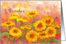 Marigold October Flower Birthday Card