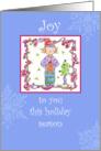 Joy To You Holiday Season Elf Snowflakes card