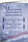 Military Wedding Invitation, Bible Verse Ruth 1:16-17, You Customize card