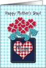 Happy Mother&rsquo;s Day! Mum, Seersucker Fabric Look, Gingham Checks card