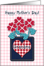 Happy Mother&rsquo;s Day! Grandma, Seersucker Fabric Look, Gingham Checks card
