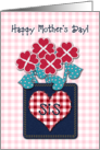 Happy Mother&rsquo;s Day! Sis, Seersucker Fabric Look, Gingham Checks card
