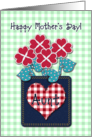Happy Mother&rsquo;s Day! Aunt, Seersucker Fabric Look, Gingham Checks card
