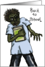 Zombie, Back To School, Humorous Play On Words, Creepy Ghoul card
