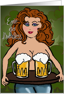 Erin Go Braless, St. Patrick's Day Beer Drinking, Adult Humor, Sexy card