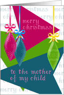 Merry Christmas To My Child's Mother, Retro Christmas Tree Bulbs card