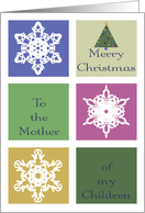 To The Mother of My Children, Merry Christmas, Snowflakes card