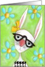 Little Bunny Retro card