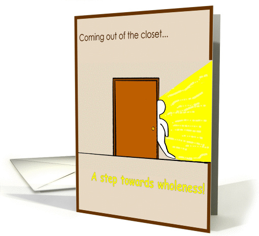 Coming out of the closet card