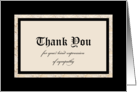 Sympathy Thank You Card -- Classic Black and Tan card