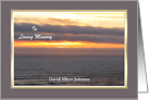 Sympathy Thank You Card -- Custom Sunset card