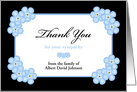 Sympathy Thank You Card -- Forget Me Not Flowers card