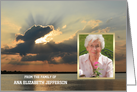 Custom Sympathy Thank You Card -- Sunset with photo card