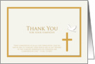 Christian Sympathy Thank You Card -- Dove and Cross card