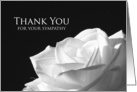 Sympathy Thank You Card -- White Rose card