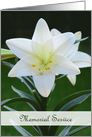 Memorial Service Invitation -- Easter Lily card