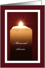 Memorial Service Invitation -- Candle card
