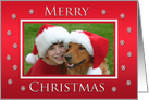 Personalized Christmas Photo Cards -- Merry Christmas in Red card