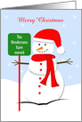 Change of Address Christmas Card with Snowman card