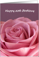 80th Birthday Card -- Rose card