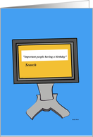 Computer Birthday-- Creative Card Bytes card