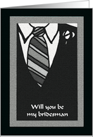 Will you be my bridesman -- Bridesman Attire card