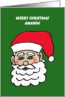 Amanda Santa Letter from Santa Greeting Card
