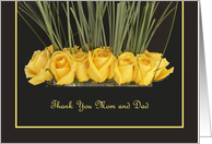 Mom and Dad Thank You Card -- Yellow Roses card
