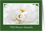 Sympathy Card -- With Deepest Sympathy card