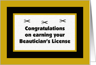 Beautician's License Congratulation Card