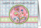 Happy Grandparents Day, Hearts & Flowers card