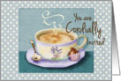 Invitation, general, cup of coffee card