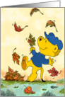 Ferald Dancing Amongst The Autumn Leaves card