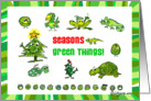 Holiday Season Green Things! card