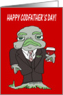 Happy Cod Father's Day Cartoon Card
