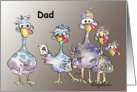 Dad Happy Father's Day Funny Turkeys Card