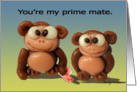 Cute Monkeys Love Card
