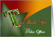 Police Officer Thank you card sincere gratitude T for thank-you card