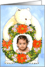 Polar Bear Christmas Wreath Photo Card