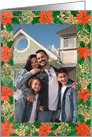 Poinsettia Vertical Photo card