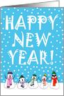 Happy New Year Snowmen card