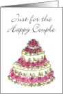 Cake - Wedding Congratulations card