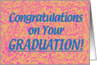 College Grad Congratz - Peach card