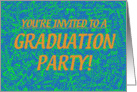 Grad Party Invite - Blue card
