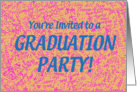 Grad Party Invite - Peach card